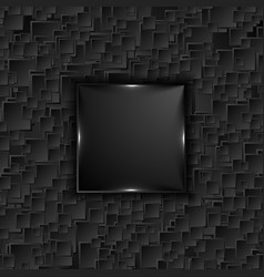 black tech square with glowing lights abstract vector image
