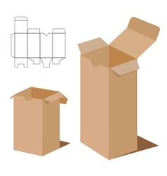 Box Packaging Design Brown box packaging vector image