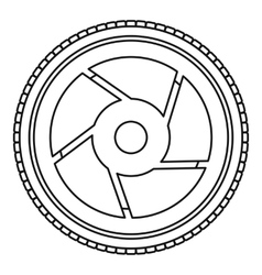 Camera aperture icon outline style vector image
