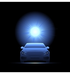 Car light transport flash vector