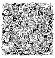 Cartoon doodles space vector