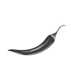 Chili glyph icon vector