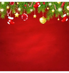 Christmas Red Happy New Year Composition vector image