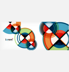 circle abstract background bright colorful round vector image