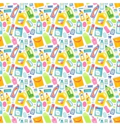 Cleaning tools sweamless pattern vector image