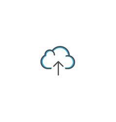 cloud computing icon design essential icon vector image