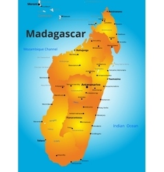 color map of Madagascar country vector image