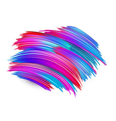 Colorful brush strokes on white background vector