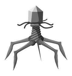 Complex viral shape icon gray monochrome style vector