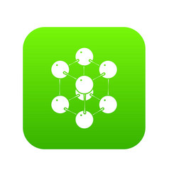 cube molecule icon green vector image