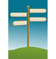 Direction board rural vector
