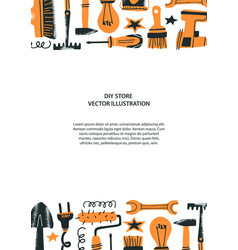 Diy store concept vector