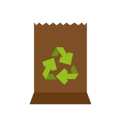 Ecology shopping bag isolated icon vector
