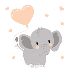 Elephant with heart vector