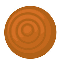 empty ceramics plate made clay pot for serving vector image