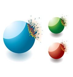 exploding stones vector image