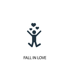 Fall in love icon simple element vector