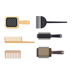 Fashion hairdresser comb with hair clipper and vector