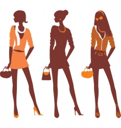 Fashionable silhouettes vector