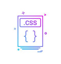 File files css icon design vector