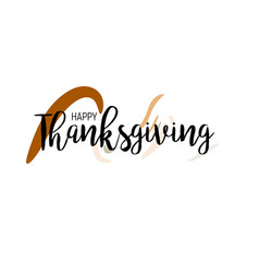 Flat design style happy thanksgiving day logotype vector