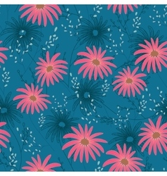 Floral seamless pattern with delicate flowers vector image