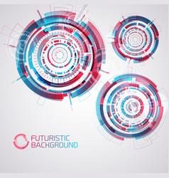 futuristic round elements set vector image