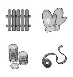 Gardening finance and other monochrome icon in vector