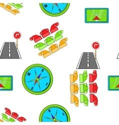 GPS pattern cartoon style vector image