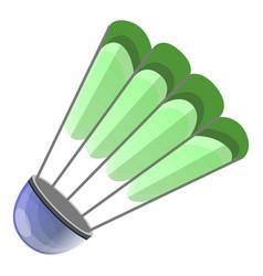 green shuttlecock icon cartoon style vector image