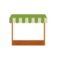 Grocery tent empty vector