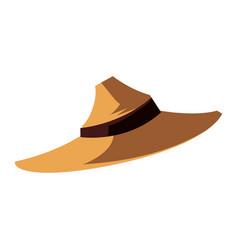 Halloween scarecrow hat icon vector