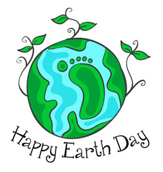 happy earth day green world vector image