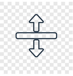 Horizontal split concept linear icon isolated on vector