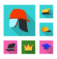 isolated object of headgear and cap symbol vector image
