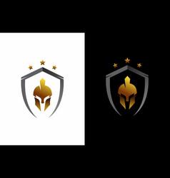 Luxury sparta warrior helmet template designs vector