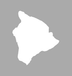 Map of hawaii vector