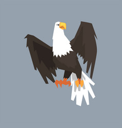 North american bald eagle symbol of usa vector