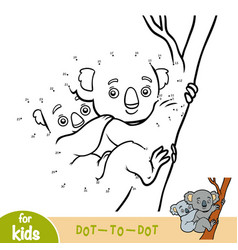 numbers game education game for children koala vector image