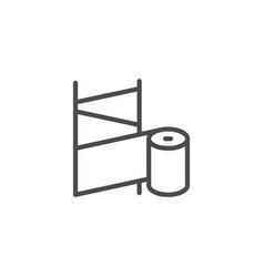 orthopedic bandage line outline icon vector image
