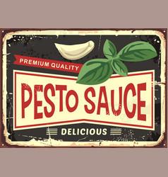 pesto sauce vintage sign vector image