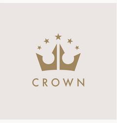premium royal crown logo icon vector image