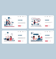 Recruitment landing page stuff searching vector