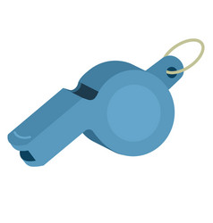 referee whistle isolated vector image