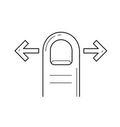 scroll right left line icon vector image