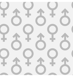 Seamless pattern of male and female gender symbols vector