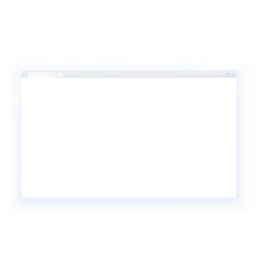 Simple style blank web browser window isolated on vector