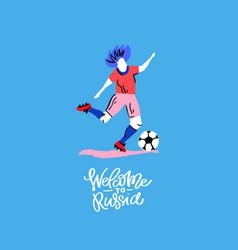 Soccer player design vector