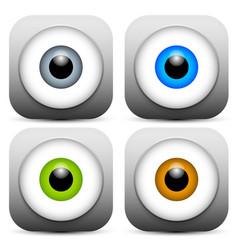 Stylish eye icons vector