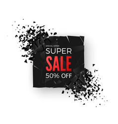 super sale banner - 50 special offer layout with vector image